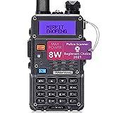 Mirkit Radio Baofeng UV-5R MK5 8 Watt Max Power 2021 1800 mAh Li-Ion Battery...