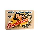 DiiliHiiri Cartel de Chapa Vintage Decoración, Letrero A4 Estilo Antiguo de metálico Retro (Casablanca)