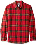 This weekend-perfect casual button-front shirt in a midweight flannel features a soft feel and maximum comfort With a rounded hem, single-button barrel cuffs, a single chest pocket and straight back yoke with side pleats Slim fit: closer-fitting in t...