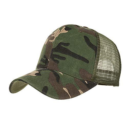 Sumeiwilly Herren Cap Camouflage Kappe Verstellbar Mütze Schnelltrocknende Schirmmütze UV-Schutz Kappe für Herren und Damen Sommer