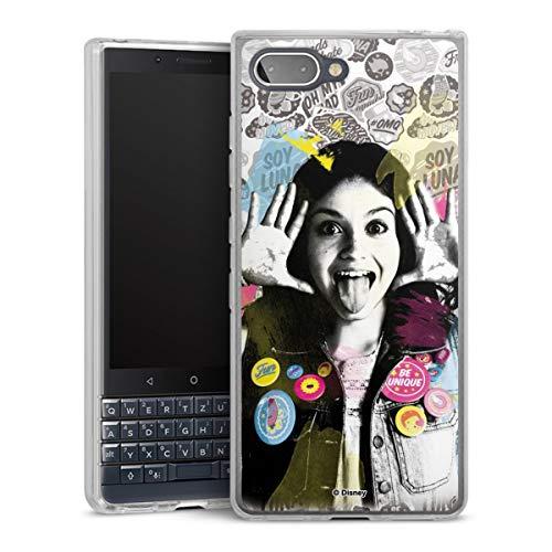 DeinDesign Silikon Hülle kompatibel mit BlackBerry Key2 LE Hülle transparent Handyhülle Soy Luna Disney
