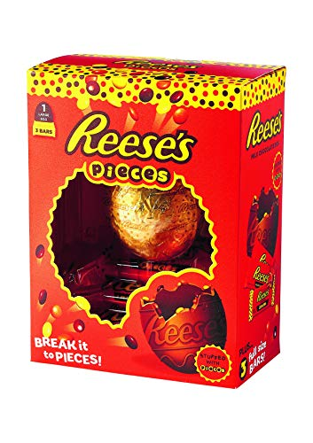 Reese's Pieces Easter Egg Uova Di Pasqua Limited Edition 344gr (1 Large Egg + 3 Bars)