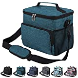 Insulated Lunch Bag for Men Women Adult Leakproof Lunch Box for Office Work School Cooler Tote Bag with Adjustable Shoulder Strap for Kids, Green