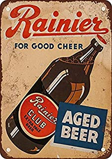 Fuxell 1934 Rainier Club Extra Pale Beer Vintage Look Reproduction Metal Tin Sign 8X12 Inches