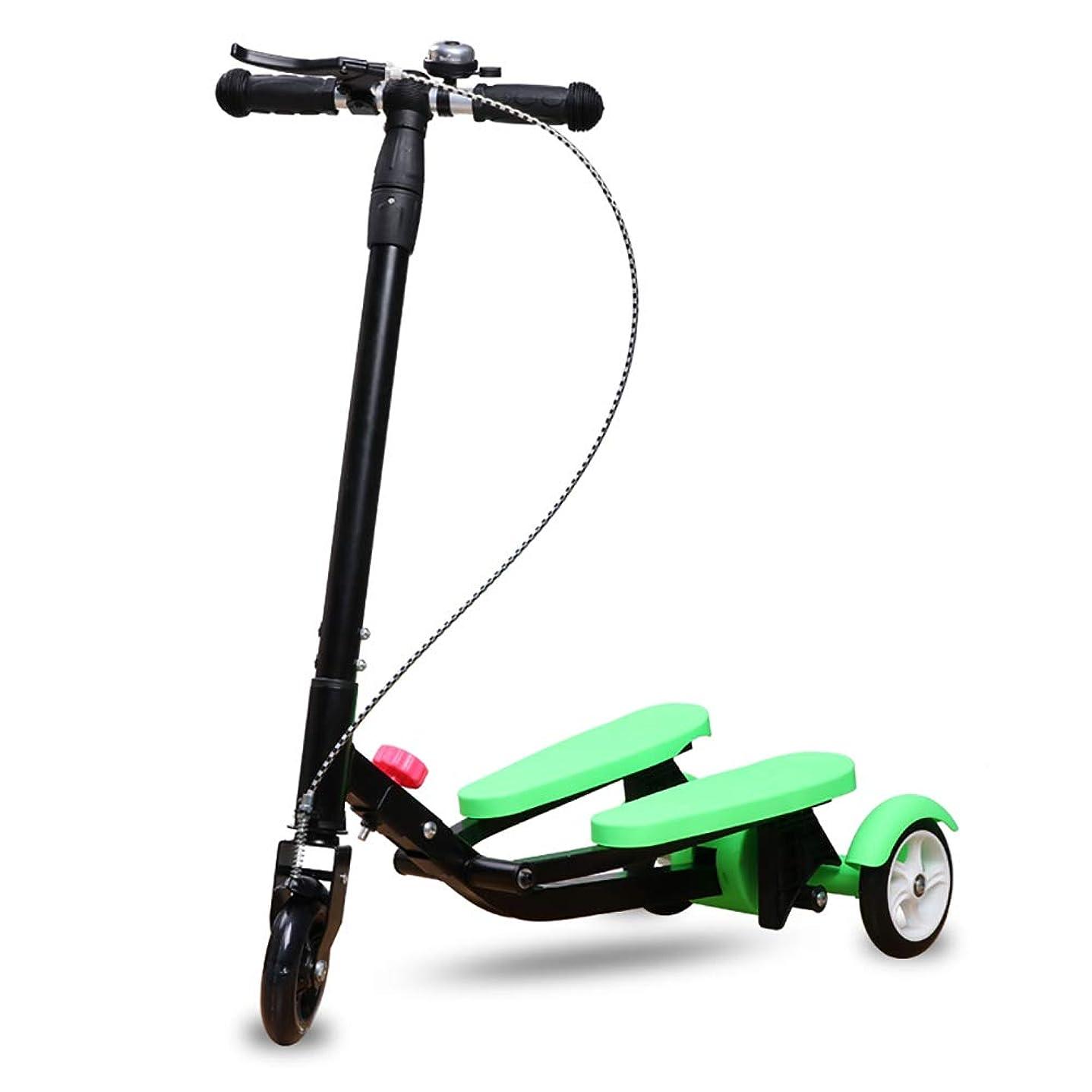 縮れた種類小競り合いスクーター 子供のための非電動スクーター、調節可能なTバーハンドル、フラッシュホイール、安全ブレーキ付きワイドペダルスクーター