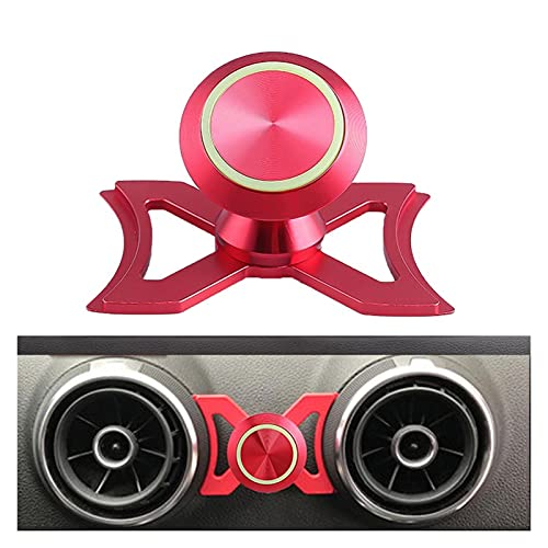 Baobaoshop Titular del teléfono con Titular del teléfono con Aire de ventilación de Aire Monte Luminous 360 ° Giratorio Giratorio Cuna para Accesorios para automóviles (Color : Red)