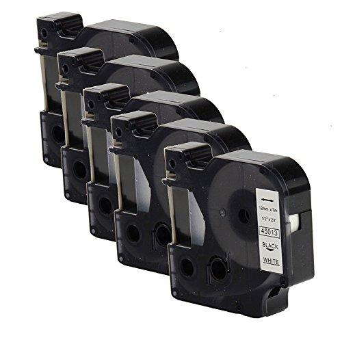 Oyat® Compatible avec les 12 mm x 7 m Dymo D1 45013 S0720530 Étiquettes Noir sur Blanc Ruban pour DYMO Label Manager