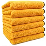 SoLiD 6 Pack Multipurpose Plush Microfiber Edgeless Cleaning Towel for Household, Car Washing, Drying & Auto Detailing - 16