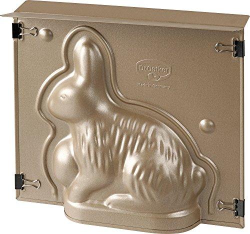Dr. Oetker 1870 Backform Hase Goldene Ostern, 500ml, Stahlblech mit Antihaftbeschichtung