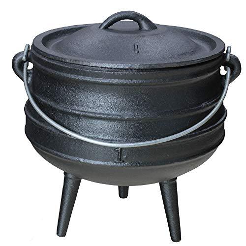 Grillmaster Gusseisen Dutch Oven African Pott Feuertopf Grill Lagerfeuer Topf Eingebrannt 1 L