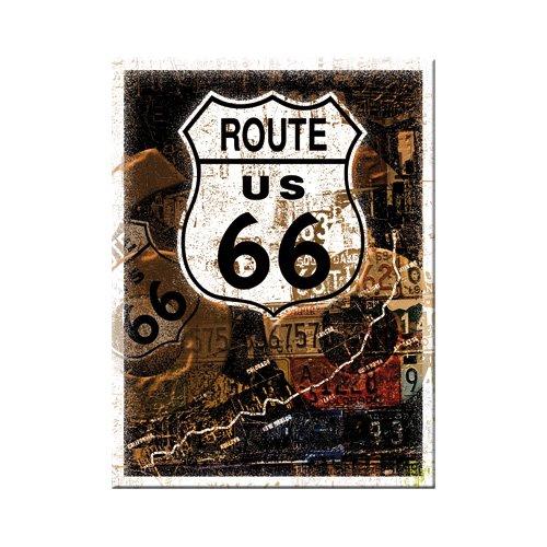 Nostalgic-Art 14175 US Highways - Route 66 Rost-Collage, Magnet 8x6 cm