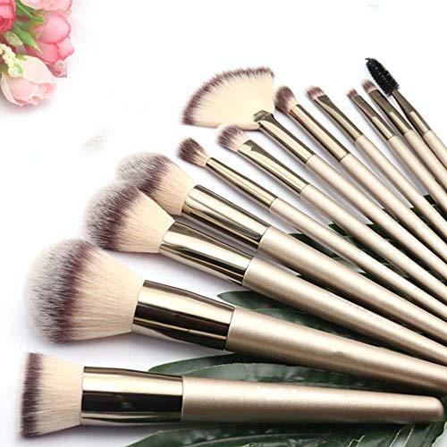 Pinceau de maquillage Ensemble De 12 Foundation Eyeshadow Liquid Eyeliner Lip Gloss Pencil Makeup Brush Set (Champagne) Convient Aux Professionnels Et À L'utilisation Quotidienne