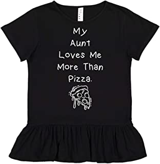 My Aunt Loves Me More Than Pizza - Toddler/Kids Ruffle T-Shirt