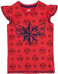 Disney Camiseta de Manga Corta para niñas Capitana Marvel