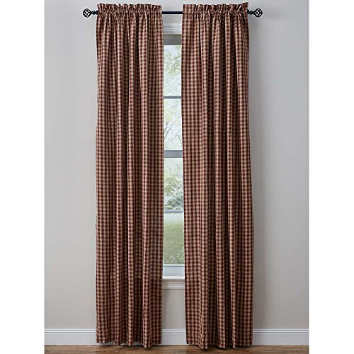 Town and Country Wine Drapery Panels