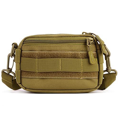 Outdoor Camping Wandern Reisen Militär Taktische kleine Umhängetasche kleine Handgepäcktasche, Wolf Brown (Braun) - A518