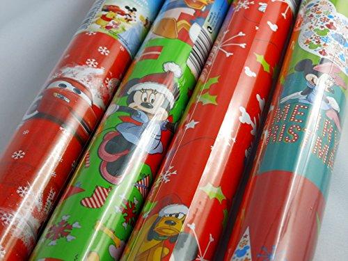 3 Rollen DISNEY Weihnachtspapier je 2 m x 70 cm Geschenkpapier Geschenk Weihnachts Papier Micky Minnie Maus