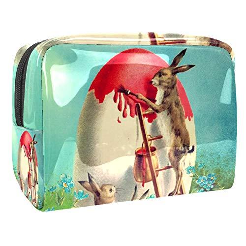 TIZORAX - Sac de maquillage en PVC pour lapins de Pâques