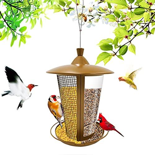 YANGMAN-F Comedero para Pájaros, Comedero para Pájaros Colgante, Comederos para Pájaros Salvajes 2 En 1 para Exteriores, Comedero para Semillas De Casa Colgante para Decoración Exterior De Jardín