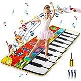 Kqpoinw Alfombra de Piano, Alfombra Musical 8 Instrumentos Alfombra Piano de Suelo Alfombrilla Musical Estera de Baile Alfombra de Baile Táctil para Niño, Niña Regalo ( 148 * 60cm )