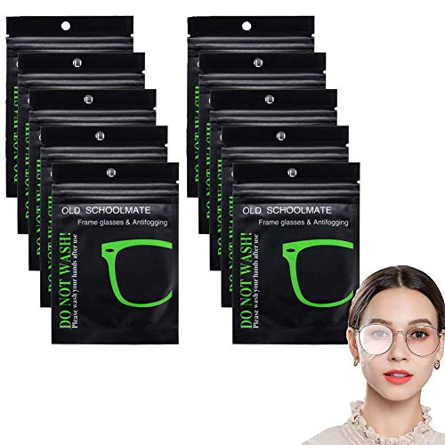 Anti-Fog-Tuch Brille Antibeschlag,Antibeschlagtuch Microfasertuch,Microfasertuch für Brille.10 Stück,