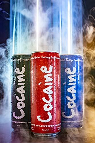 Cocaine Energy Drink, 6 - 12 ounce cans (3 Flavor Variety Pack)
