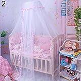 Mosquitera, Cúpula Cortina De Cama Bebé Canopy Net Tienda De Mosquitos Cama Cuna Netting Decoración De Dormitorio Rosado