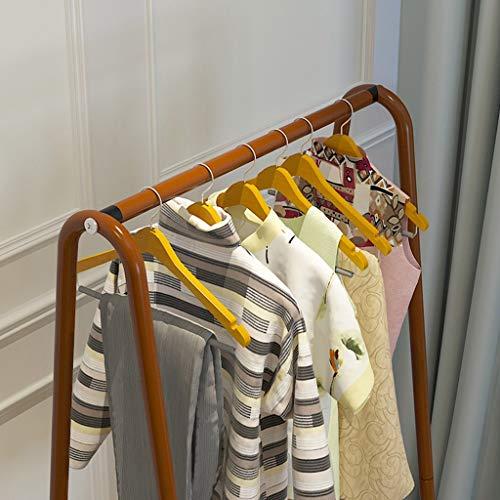 Lfixhssf Metalen mantel-rek landing-ophangsysteem eenvoudige moderne kleding hoeden schoenen rek slaapkamer opslagrekken Lfixhssf Double layer bruin