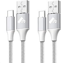 Câble USB C (2M+1M,Lot de 2) Cordon Charge Rapide,Chargeur Type C pour Samsung S20 Fe Plus S21 S8 S9 S10 A12 A20e A21s A40 A50 A51 A52 A70 A71, Xiaomi 8 9, Redmi Note 8 9, Huawei P9 P20 Lite P30 P10