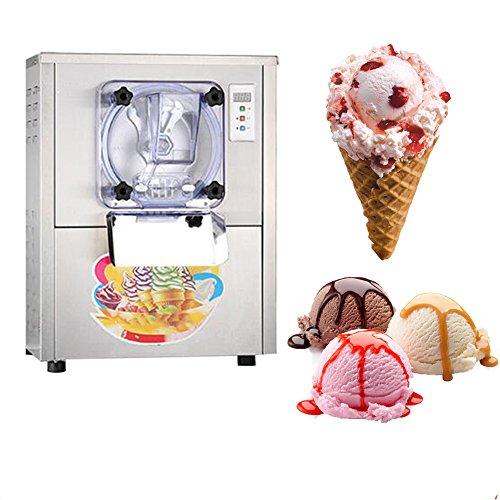Kommerzielle Harte Eismaschine 22L / h Desktop Edelstahl Eismaschine Eis Maschine mit EU-Stecker 220V
