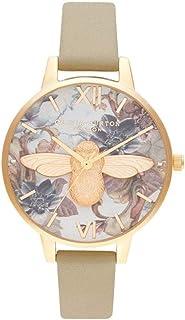 Olivia Burton Womens Quartz Watch, Analog Display and Leather Strap OB16CS22