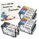 iCartouche Compatible Cartucho de Tinta para Epson 502XL 502 XL Epson Expression Home XP-5100 XP-5105 Workforce WF-2860DWF WF-2865DWF XP5100 XP5105 WF2860 WF2865 DWF WF2860DWF WF2865DWF (4BK 2C 2M 2Y)