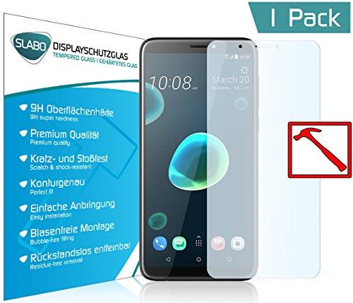 Slabo Premium Panzerglasfolie für HTC Desire 12+ Panzerfolie Schutzfolie Echtglas Folie Tempered Glass KLAR 9H Hartglas