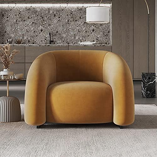 XIANGE100-SHOP Sofá Minimalista Sala de Estar Franela Moderna Simple Apartamento Pequeño Apartamento Personalidad Solicitud Sillón Silla (Color : Orange Single Chair)
