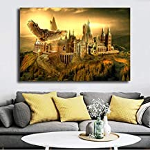 XLST HD Impreso Wall Art Deco Framework 5 Piezas Harry Potter School Castle Decor Posters,B,20x35x2+20x45x2+20x55x1