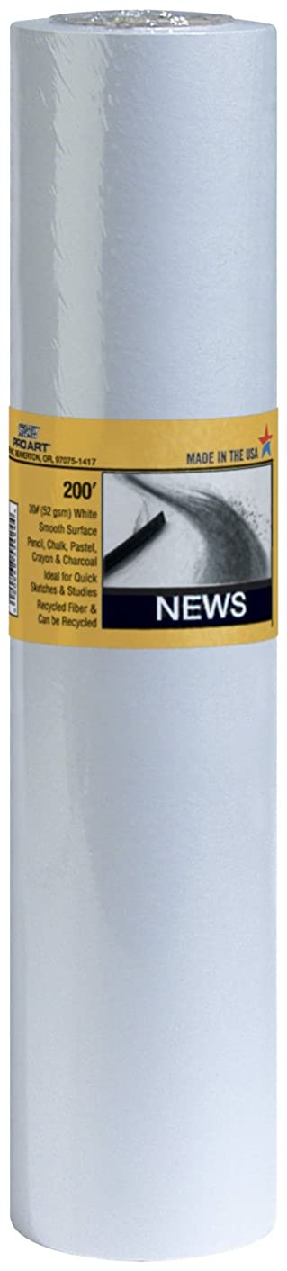 PRO ART 24-Inch by 200-feet Smooth Newsprint Paper Roll