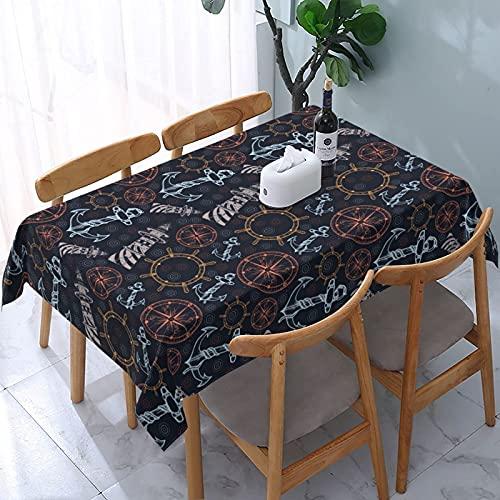 XIANGYANG Ancora Volante Faro Rettangolo Tovaglia 54 X 72 Telo Copritavolo Riutilizzabile Lavabile Impermeabile per Sala da Pranzo Cucina Picnic Decorazioni Per La Casa