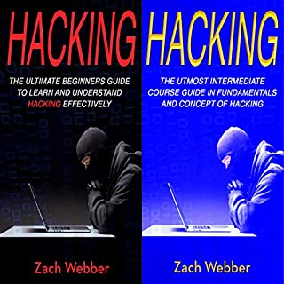 Hacking: 2 Books in 1: Beginners and Intermediate Guide in Hacking audiobook cover art