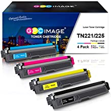 GPC Image Compatible Toner Cartridge Replacement for Brother TN221 TN225 to use with HL-3170CDW MFC-9330CDW HL-3140CW HL-3180CDW MFC-9130CW Color Laser Printer (1 Black, 1 Cyan, 1 Magenta, 1 Yellow)