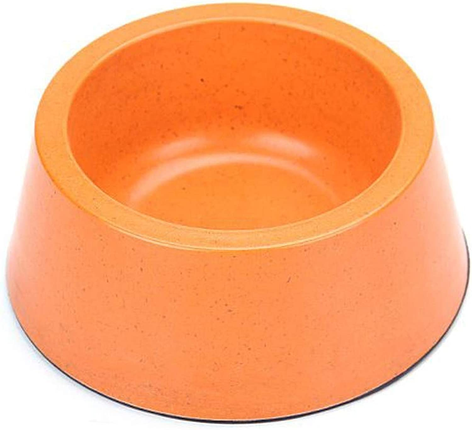Pet Supplies Dog Food Cat Food Bowl Food Bowl Single Bowl Pet Lunch Box, Suitable for Animal Tableware Within 15 Kg Multicolor Optional (color   orange)