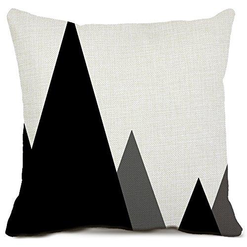 Geomatric Couvre-lit décoratif Taie d'oreiller carré en coton et lin Housse de coussin Canapé Maison extérieur Taies d'oreiller, Drap en coton, Mcl_geo0807a_2, 20*20 Inch