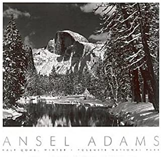 Half Dome, Merced River, Winter by Ansel Adams Yosemite, Overall Size: 24x30, Image Size: 17.75x22.5