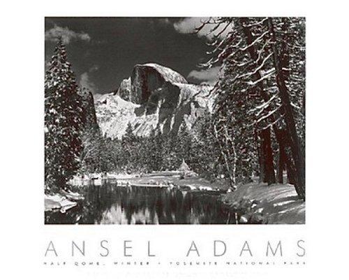 Half Dome, Merced River, Winter, Yosemite de Ansel Adams – 61 x 76 cm – Impressão artística/Pôster Fotográfico Impressão de Pôster de Arte de Ansel Adams, 76 x 61 cm, 24x30 Print, 1
