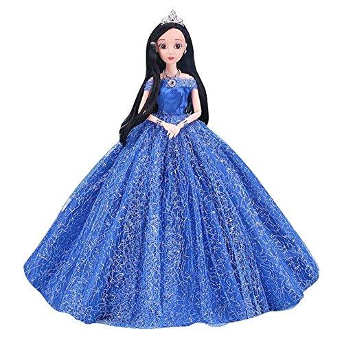 Black Temptation Mädchen Spielzeug singen Hochzeitskleid Puppe Menschen Puppen Prinzessin / Göttin-B