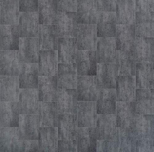 JOKA PVC Vinyl-Bodenbelag   Muster   Fliesenoptik Metallic   CV PVC-Belag in verschiedenen Maßen verfügbar   CV-Boden wird in benötigter Größe als Meterware geliefert