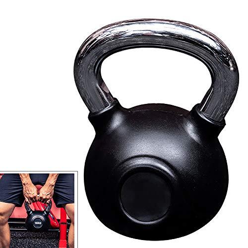 FACAI Fitness Kettlebell Gewichte Ball Hanteln Übung Trainingsgeräte Hebezeuge für Bodybuilding Kraft und Cardio Black,4KG