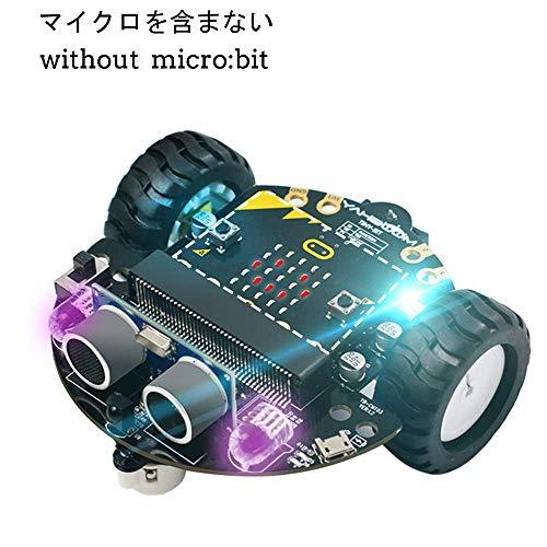 DeYich DIYスマートロボットカー Micro:bit マイクロビットプログラミングロボットカーキット(Micro:bitなし)