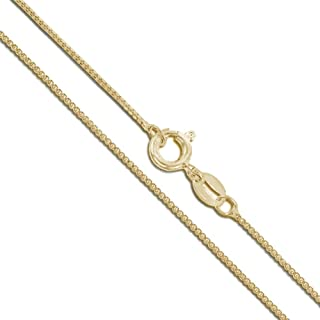 Solid 10k/14k White/Yellow Gold Box Chain