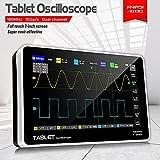 Yuqiyu ADS1013D 2 Canales Osciloscopios Digitales 100MHz * 2 Ancho de Banda 1GSA / S Tasa de muestreo de 7 Pulgadas Pantalla de Tacto LCD Osciloscopio (Color : 1013D)