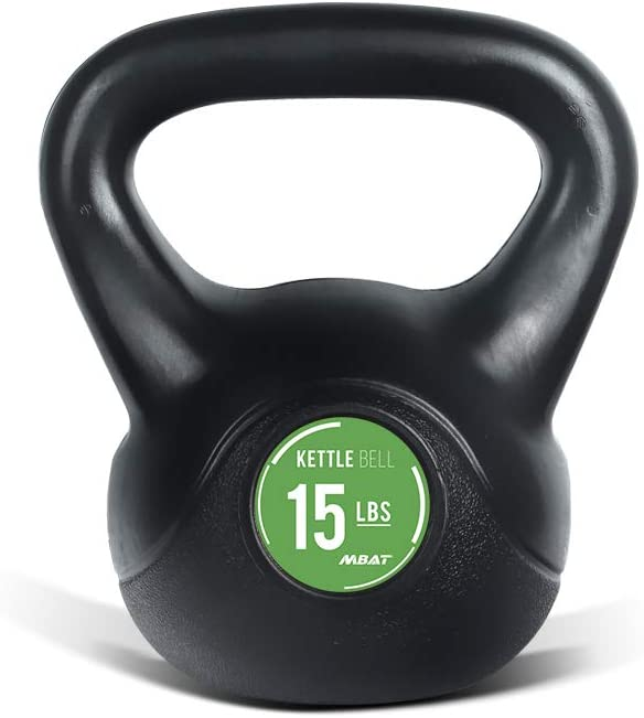 MBAT Black PE Kettlebell with Anti-slip Ranking TOP20 San Diego Mall for Home Fitn Handle Gym